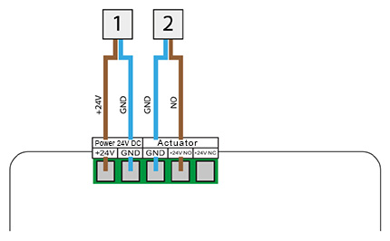 The connection diagram for VER-34 controller