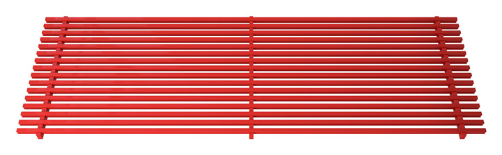 Linear bar aluminium grille, RAL colour coated  aluminium