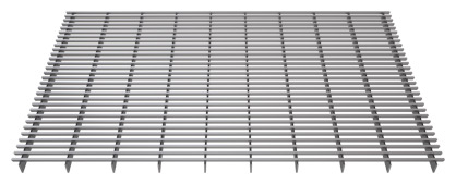 Linear stainless steel grille - side view  for trench heaters and climaconvectors