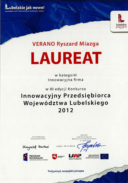 Verano won the contest for innovation manufacturing business