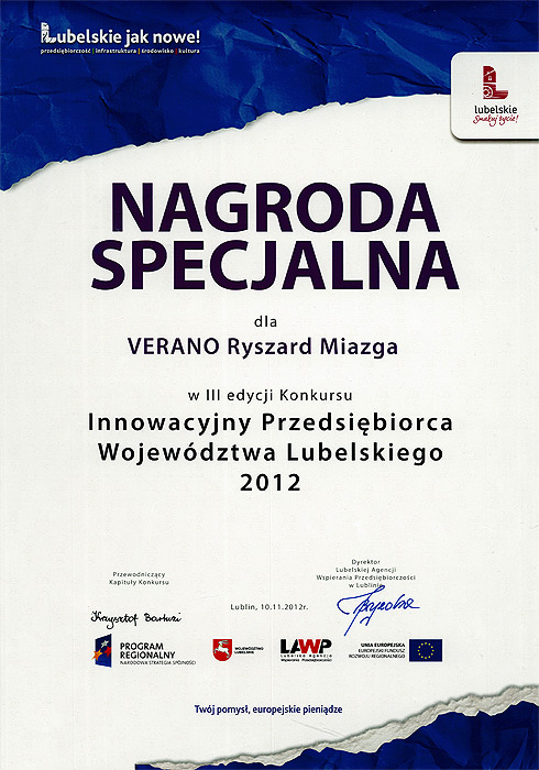 Special award for Verano Convector