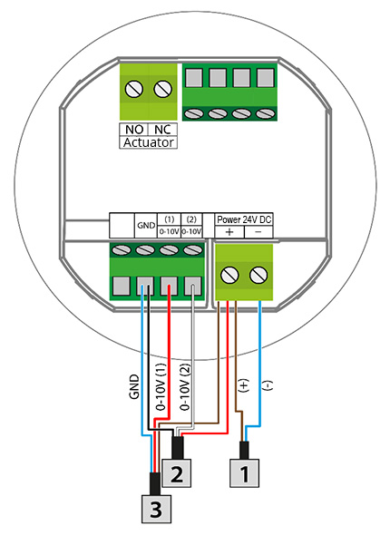 The connection diagram for VER-24/VER-24S controllers.