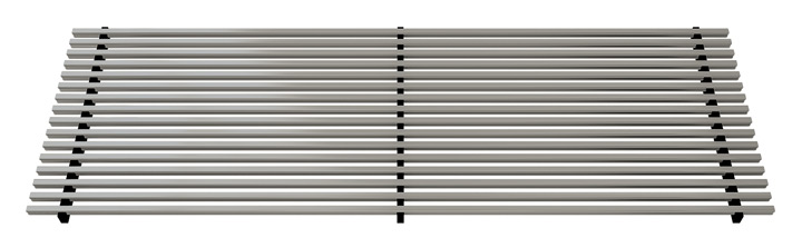 Linear bar aluminium grille, Anodized stainless steel