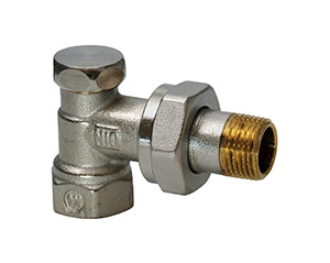Angular return valve