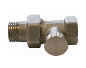 Straight return valve