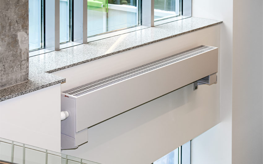 Low level convector radiator