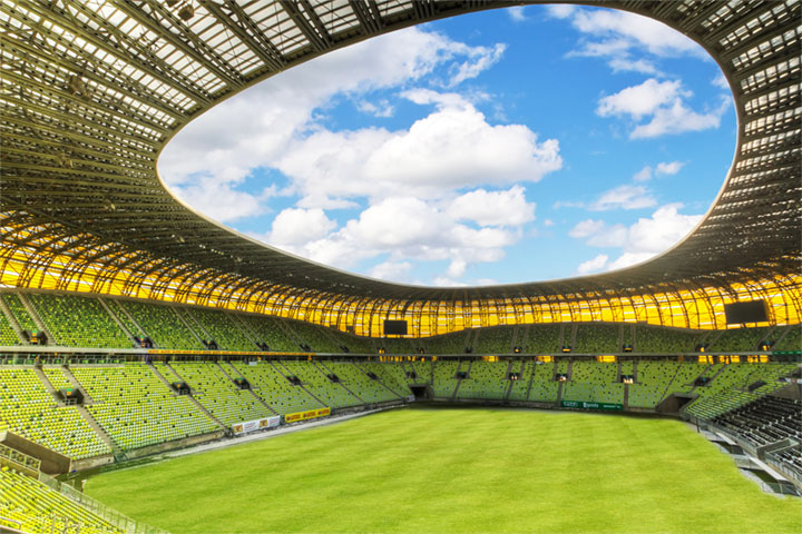 Trench heating at the PGE Arena Municipal Stadium Gdansk / Poland
