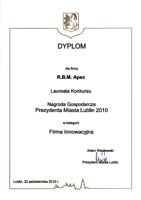 Lublin Mayor Award for the most innovative company
